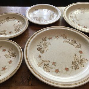 REDUCED! Homespun Stonecast by Churchill Plate Set